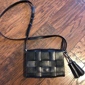 ✨MK crossbody Purse Bag Black Leather Michael Kors